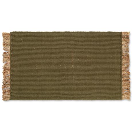 Ferm Living Floor Mat Block Olive Green Jute 80x50cm