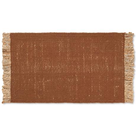 Ferm Living Floor Mat Block Brown Jute 80x50cm