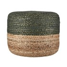 Housedoctor Pouf Hemp green jute natural brown 45xh35cm