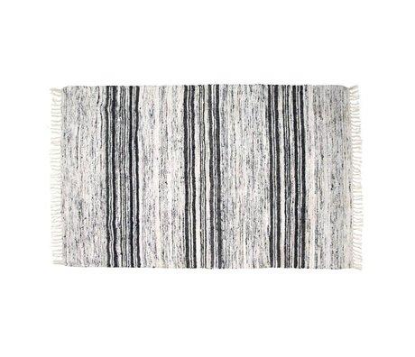 HK-living Teppich Seide recycelt schwarz und weiß 120x180cm