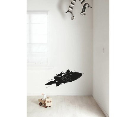 KEK Amsterdam Chalkboard Sticker 2 sizes Rocket black blackboard foil