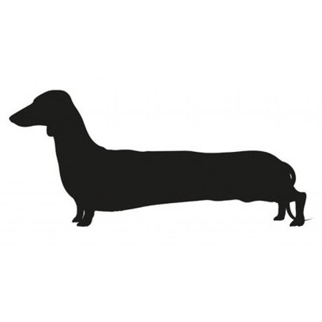 KEK Amsterdam Chalkboard Sticker 98x44cm Black Long Dog Larry blackboard sticker