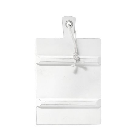 HK-living Breadboard square white MEDIUM 24x26,5cm