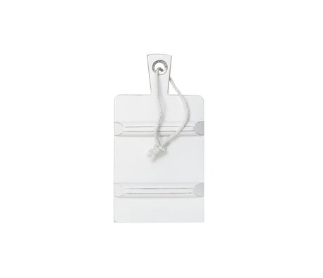 HK-living Breadboard square white SMALL 17,5x34cm