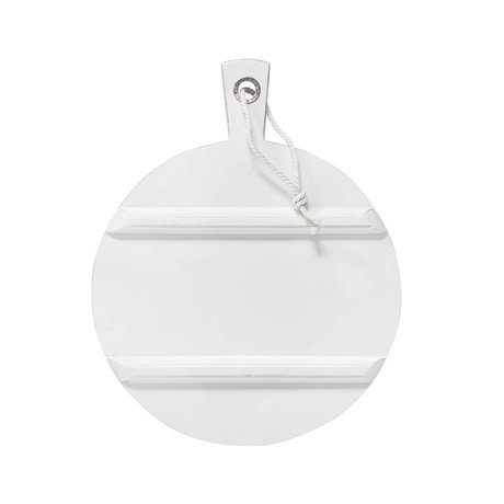 HK-living Breadboard round white MEDIUM ø36cm
