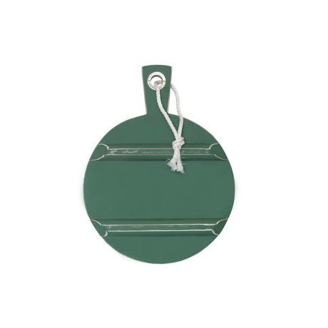 HK-living Broodplank rond forest green groen SMALL ø25cm