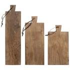 HK-living Bread Boards recyceltem Teakholz, 3er Set Platten