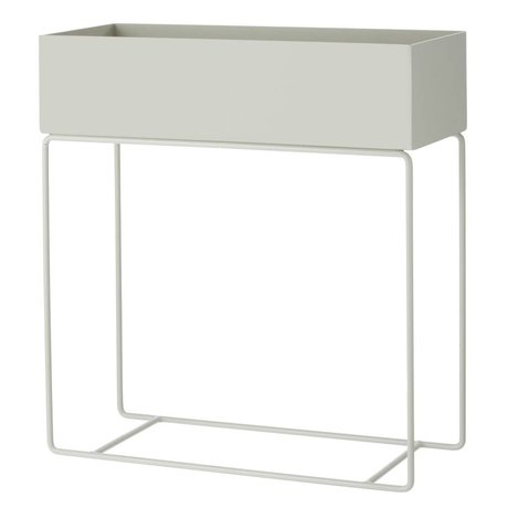 Ferm Living Box for plant gray metal 60x25x65cm