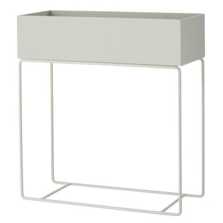 Ferm Living Box für Pflanzen grauen Metall 60x25x65cm