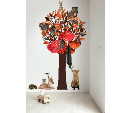 KEK Amsterdam Wandtattoo / Coat orange 120x220cm Wald Tree Friends XL Wandfilm