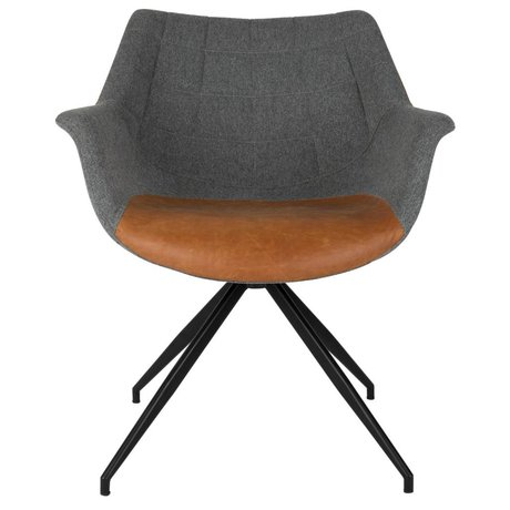 Zuiver Eetkamerstoel Doulton Vintage 67x61x80cm gris brun