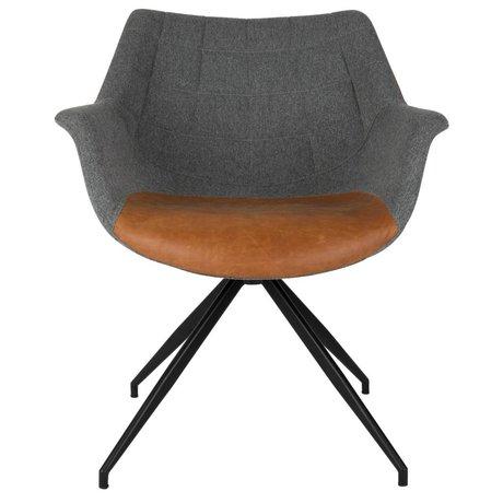Zuiver Eetkamerstoel Doulton vintage grijs bruin 67x61x80cm
