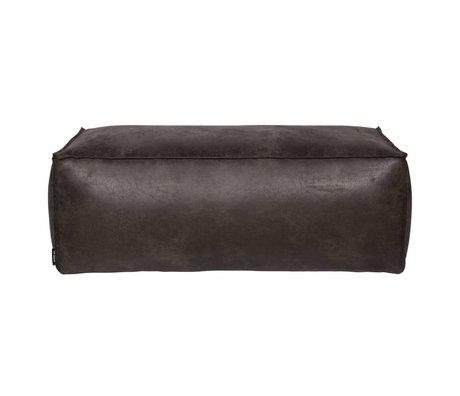 BePureHome Poof cuir noir Rodeo 120x60x43cm
