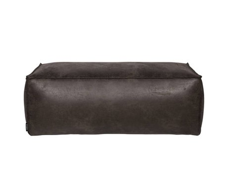 BePureHome Puh Rodeo schwarzes Leder 120x60x43cm
