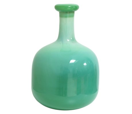HK-living Vase hand-blown green clouds glass 25x25x39cm