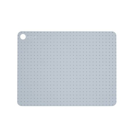 OYOY PALE BLUE GREY silicone placemat set of two 45x34x0,15cm