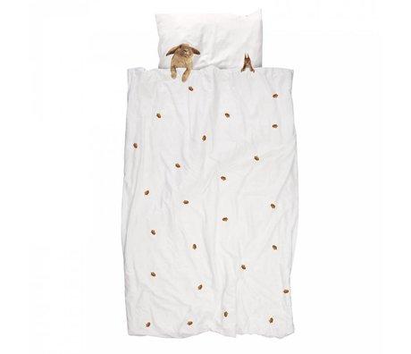 Snurk Beddengoed Amis à fourrure coton housse de couette 140x220cm
