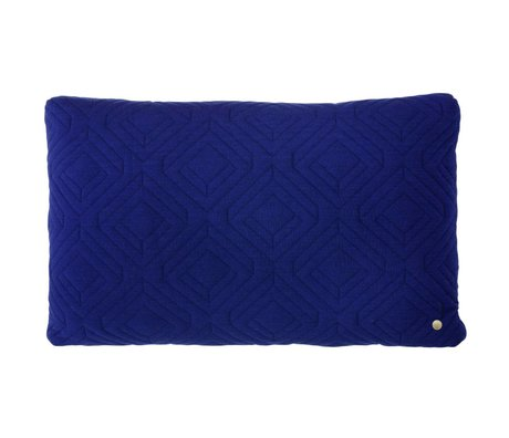 Ferm Living Cushion Quilted dark blue 60x40cm
