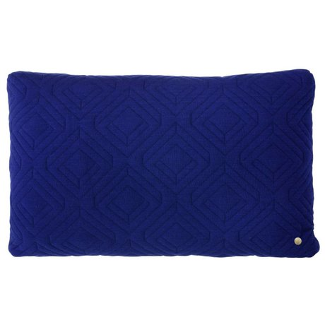 Ferm Living Kissen Stepp dark blue 60x40cm