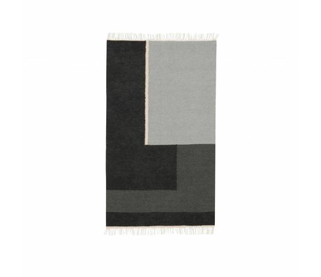 Ferm Living Section Kilim Tapis gris petite 80x140cm