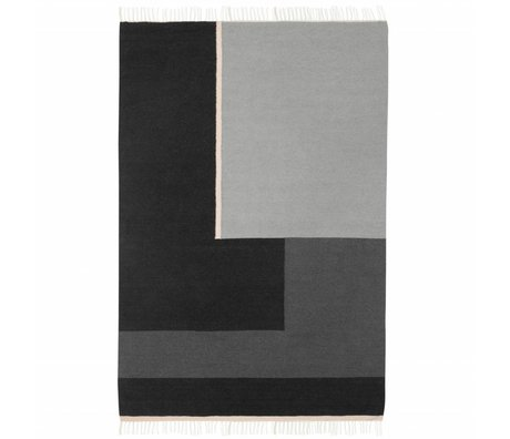 Ferm Living Kilim Rug Section gray large 160x250cm