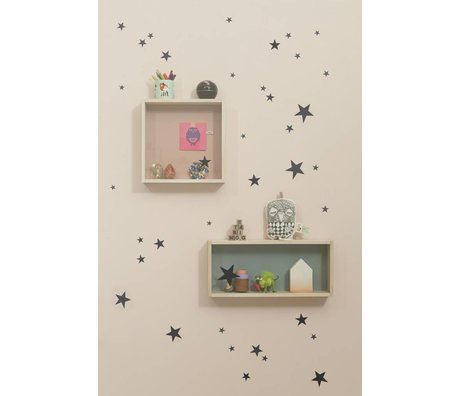 Ferm Living Stickers muraux Stickers muraux mini-étoiles - Mini Black Stars