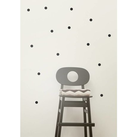 Ferm Living Wall Sticker dots mini-autocollants muraux - Mini pois noir