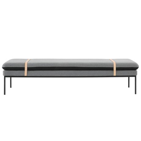 Ferm Living Bench Daybed Turn graue Wolle 190x80x42cm