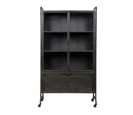 BePureHome Showcase Steel storage black metal 105x40,2x183,5cm