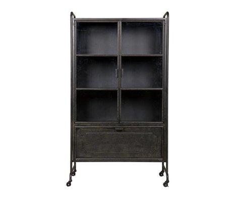 BePureHome Vitrinekast Steel storage zwart metaal 105x40,2x183,5cm