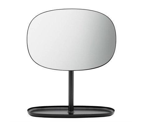 Normann Copenhagen Spiegeltje Flip Mirror zwart staal 28x19,5x34,5cm