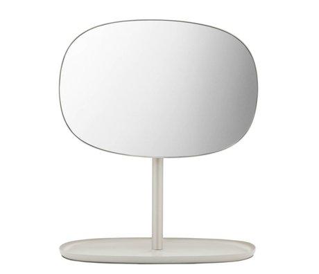 Normann Copenhagen Flip Spiegel Spiegel sandfarbenen Stahl 28x19,5x34,5cm