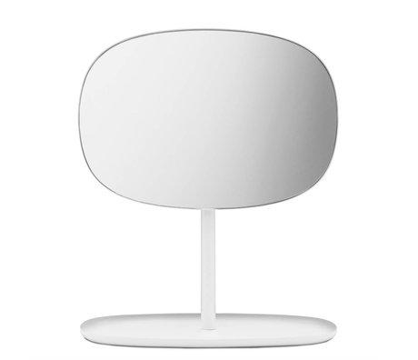 Normann Copenhagen Retournez Mirror Mirror blanc 28x19,5x34,5cm d'acier