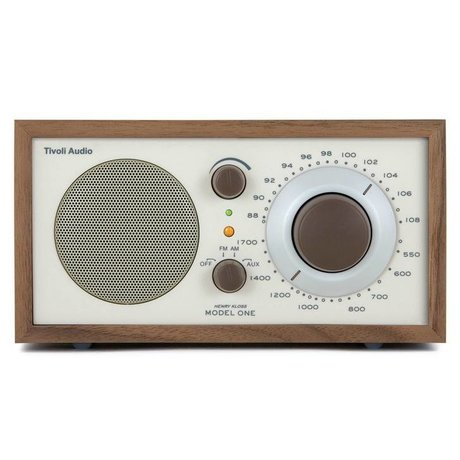 Tivoli Audio Tableau Radio One Noyer 21,3x13,3xh11,4cm beige