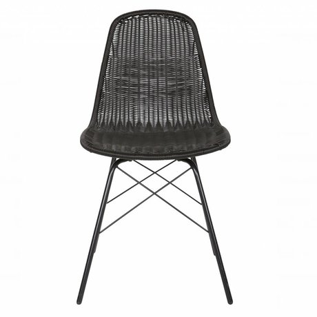 BePureHome Chair Spun (garden) black polyester metal 84,5x52,5x45,5cm