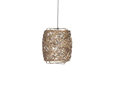 Ay Illuminate Hanglamp Bird's Nest naturel bamboe small ø40x60cm