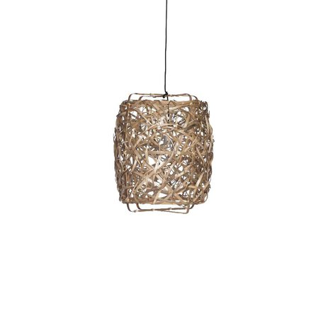 Ay Illuminate Hanging lamp Bird's Nest natural bamboo small ø40x60cm