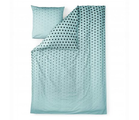Normann Copenhagen Duvet Cube blue cotton 140x200cm
