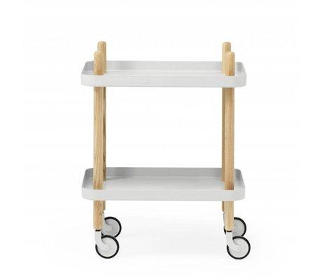 Normann Copenhagen Table d'appoint Bloquer acier gris clair bois 35x64x50cm