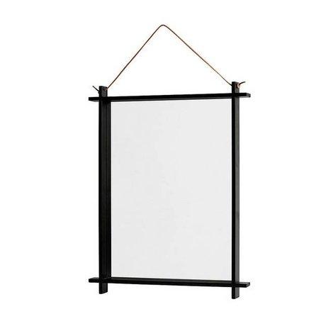 OYOY Spiegel Square naturel donker 36x3,5x46cm