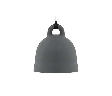 Normann Copenhagen Hanging lamp Bell gray aluminum XS Ø22x23cm