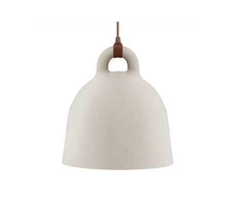 Normann Copenhagen Hanglamp Bell sand brown aluminum S Ø35x37cm