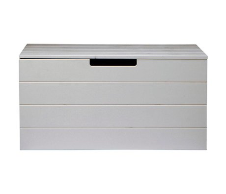 LEF collections Storage boxes Shack concrete gray brushed pine 42X80X40cm