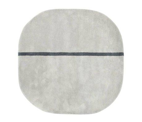 Normann Copenhagen Oona grauer Wolle Teppich 140x140cm