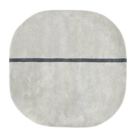 Normann Copenhagen Oona gray wool rug 140x140cm
