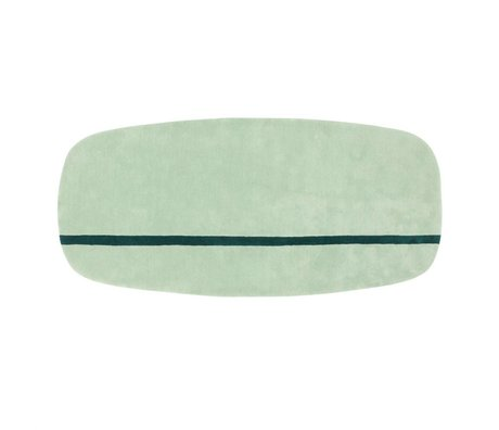 Normann Copenhagen Oona mint green wool rug 90x200cm