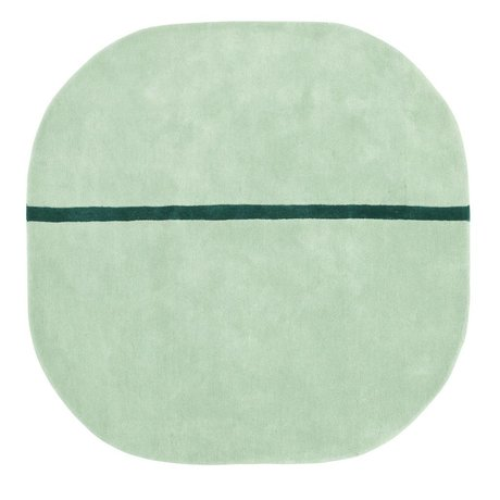 Normann Copenhagen Oona mint green wool rug 140x140cm