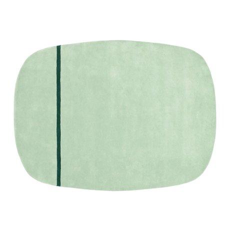 Normann Copenhagen Robe Oona vert menthe laine 175x240cm