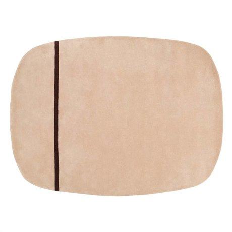 Normann Copenhagen Oona pink wool rug 175x240cm