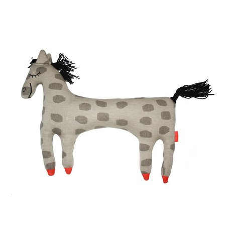 OYOY Hug Pferd Pippi beige braun Baumwolle 52x9x42cm